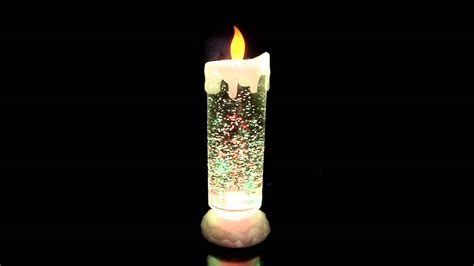 christmas candle lava l swirling glitter candle light youtube