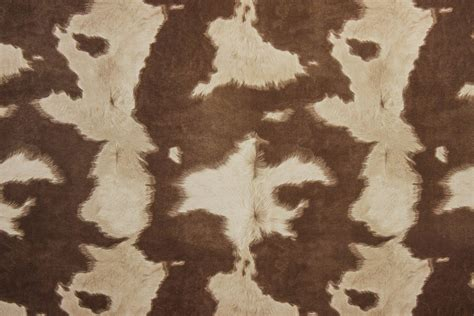 faux cowhide fabric for upholstery suede cowhide fabric brown white the fabric mill