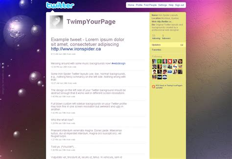 cool layout for twitter cool twitter backgrounds free professional twitter