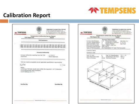 calibration report template furnace calibration temperature uniformity survey
