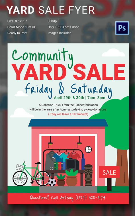 14 best yard sale flyer templates psd designs free