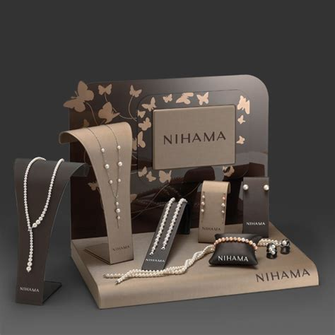 Luxury unique customized jewelry/ watch display set for window display wholesale supplier