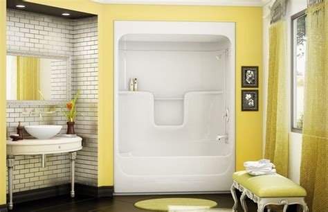 One Piece Bath And Shower Unit bathtub showers advantages the choice gives de lune com