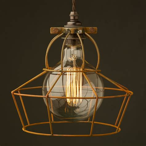 Cage Lights by Ufo Shaped Antiqued Light Bulb Cage
