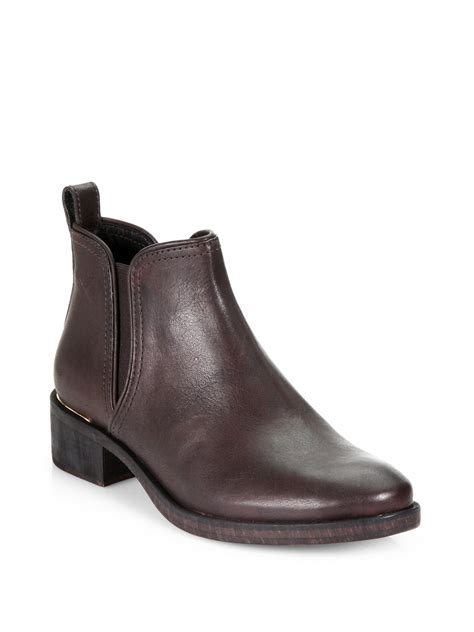burch shoes for burch griffith leather ankle boots in brown coconut