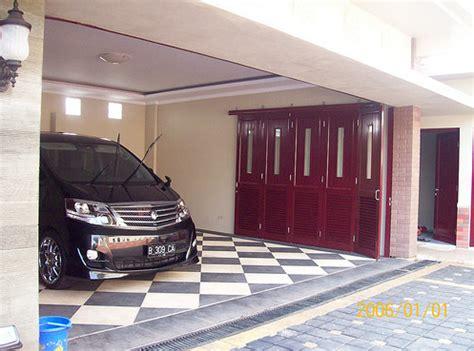 model keramik teras  garasi mobil minimalis