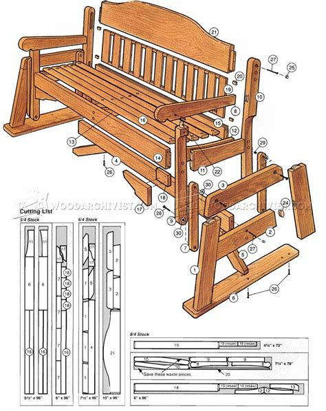 Patio Glider Chair Plans by Porch Glider Rocker Plans