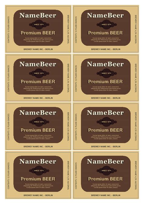 bottle label templates bottle label template