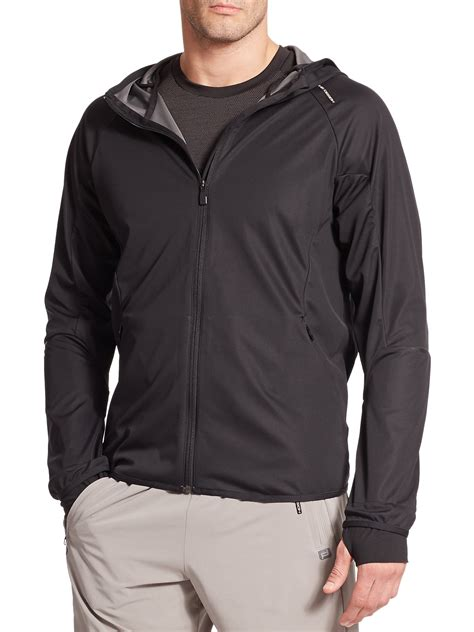 porsche fashion porsche design sport windbreaker jacket in black for men