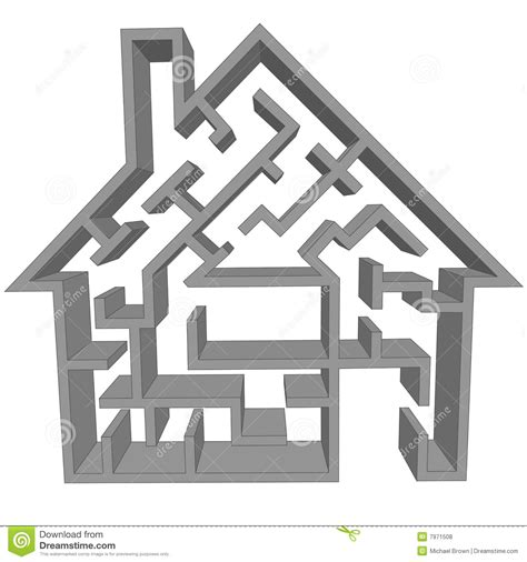 maze house maze house as a symbol of home hunting puzzle royalty free stock photos image 7971508