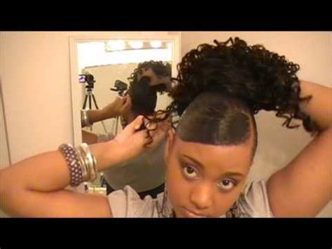 hump and drawstring ponytail tutorial youtube 40 protective style drawstring madness 1 youtube