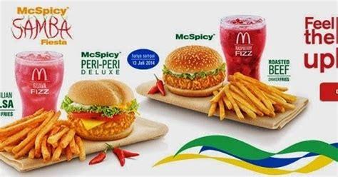 Mcd Spicy Peri Peri daftar harga menu mcspicy samba dari mc donald s