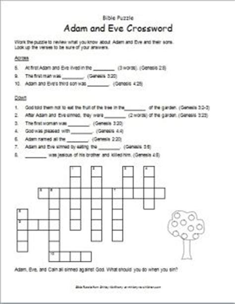 Vocabulary Garden Answer Key This Crossword Contains Key Words From The Stories Of Adam