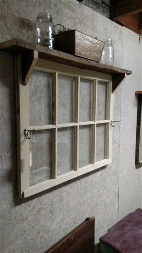 window pane decor 8 pane window with hooks and shelf furniture and decor