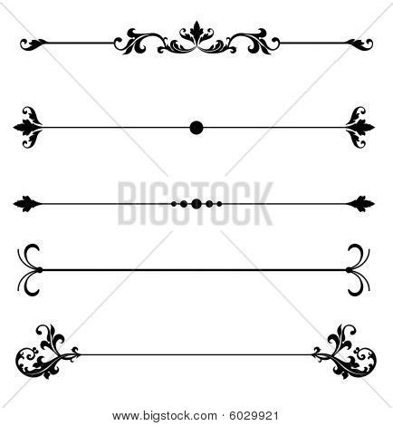 decorative line scroll 13 scroll line vector images free scroll design clip art