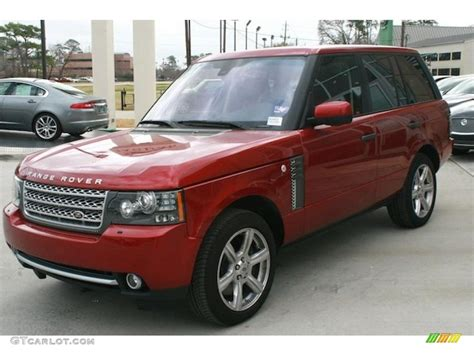 red range rover rimini red metallic 2011 land rover range rover
