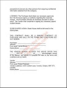 sales agreement sample new blog