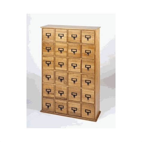 leslie dame 24 drawer cd media storage cabinet oak ebay