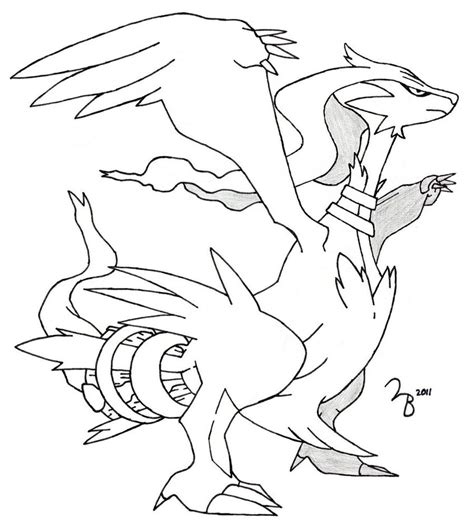 pokemon coloring pages reshiram pokemon reshiram lined by lazy bing on deviantart