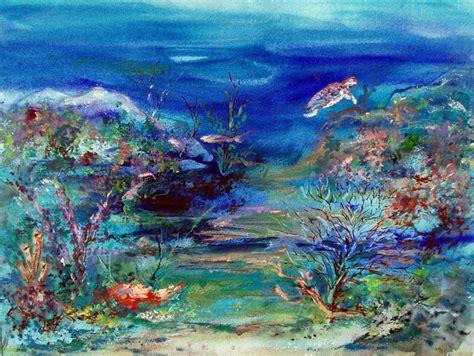 Tile Medallions For Kitchen Backsplash by Custom Glass Tile Mural Quot Underwater Seascape Quot In Kitchen