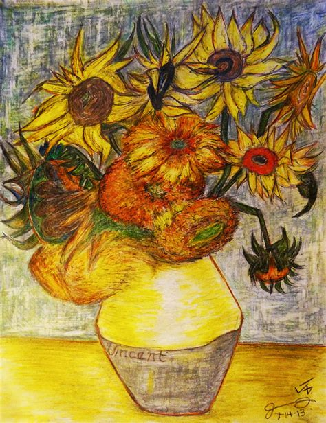 vincent gogh vase with twelve sunflowers replica of vincent gogh s still vase with