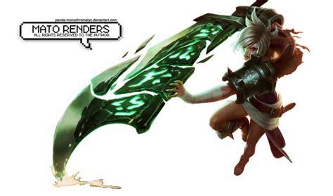 imagenes png league of legends render riven league of legends by panda monochromatyc