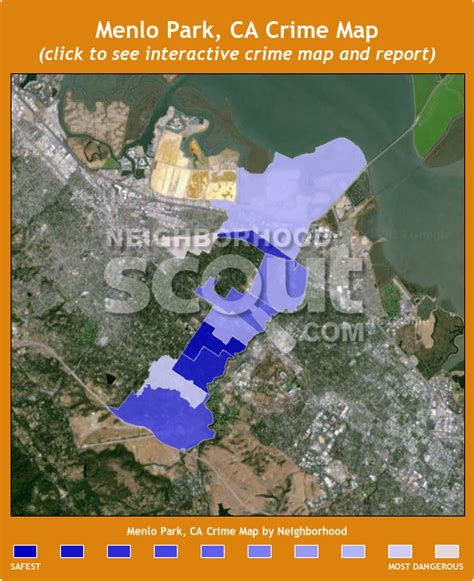 menlo park california map menlo park 94025 crime rates and crime statistics