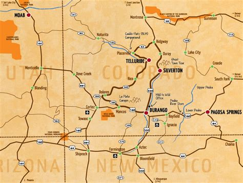 For Corners four corners map of our whitewater rivers in the southwest