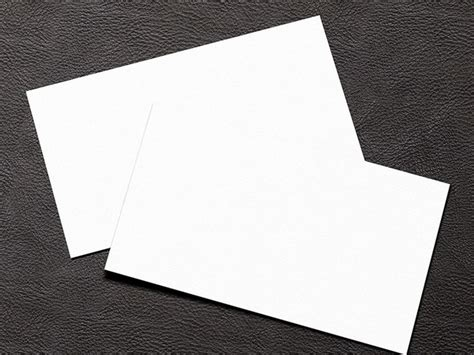 Free Simple White Blank Business Card Mockup Psd Titanui Blank Business Card Template Psd