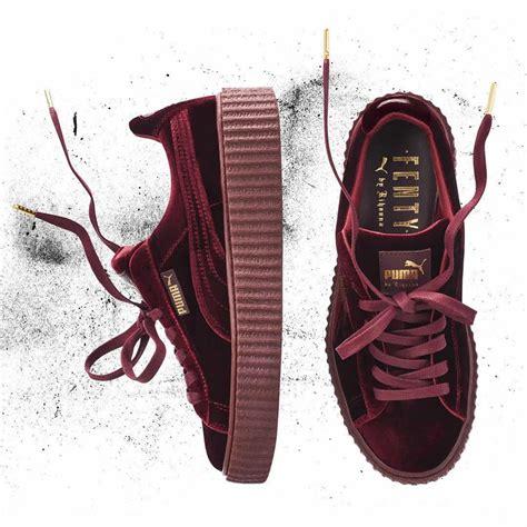 X Rihana Velvet Creepers Burgundy For rihanna x creeper velvet pack le site de la sneaker
