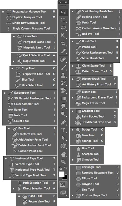 new guide layout cs6 accessing the photoshop cs6 tools palette through