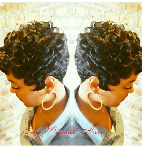 short pin curl hairstyles for black women 370 best cute styles fingerwaves soft curls images on
