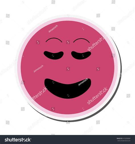 Flat Smile flat design smile emoticon icon vector illustration