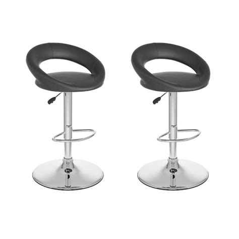 black swivel bar stools with back corliving adjustable black leatherette round open back