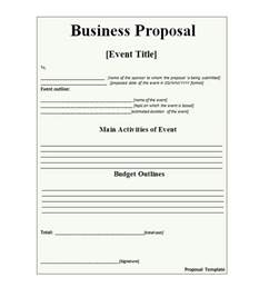 Business Proposals Template 30 business templates letter sles