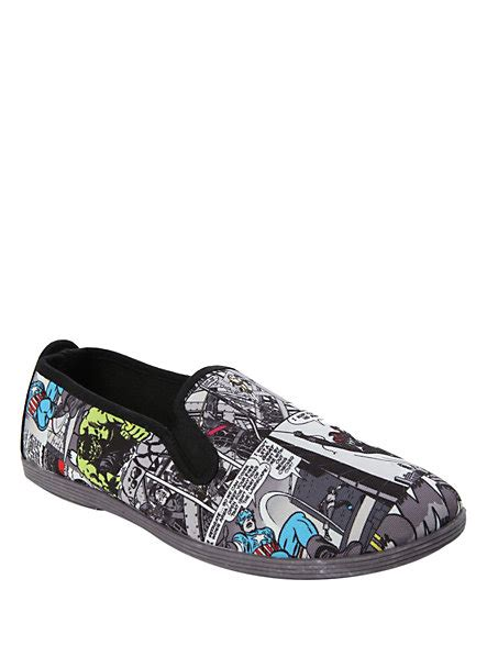 topic shoes marvel grey comic slip on shoes topic