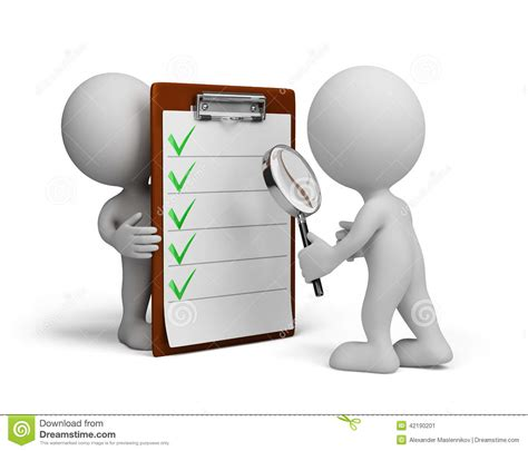 Background Check Without Subscription 3d Person And Checklist Stock Illustration Image 42190201