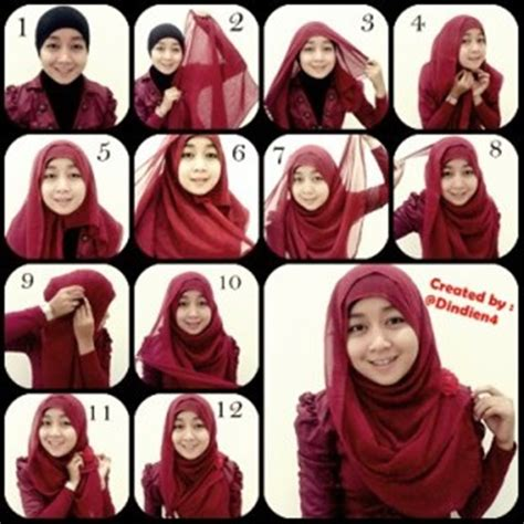 tutorial hijab simple segitiga paris tips jilbab segi empat hairstylegalleries com