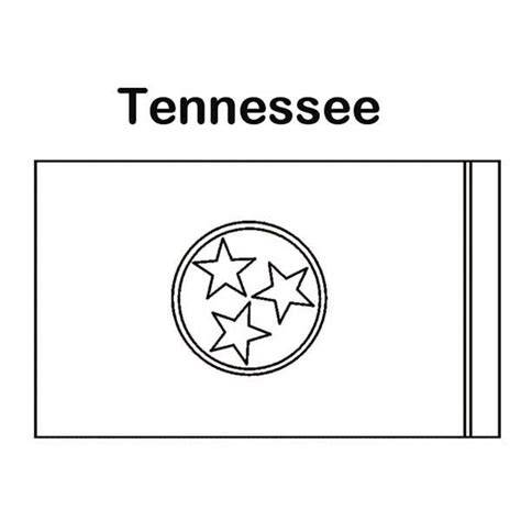 tennessee colors state flag of tennessee coloring page color