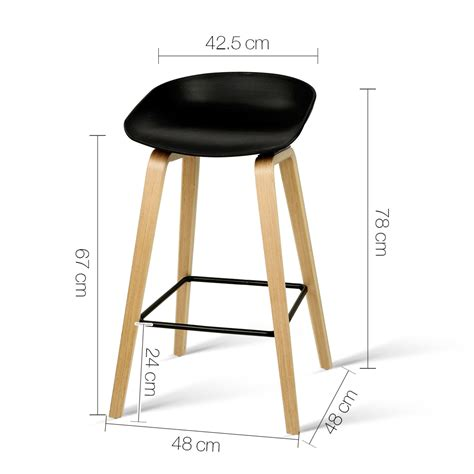 Set Of Metal Bar Stools by Set Of 2 Wooden Bar Stools With Metal Footrest Black