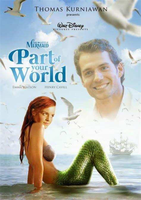la petite sirene film emma watson les affiches disney s ils avaient 233 t 233 de vrais films f 233 noweb