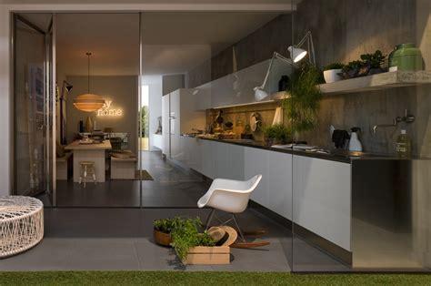 linear kitchen design glass doors interior design ideas