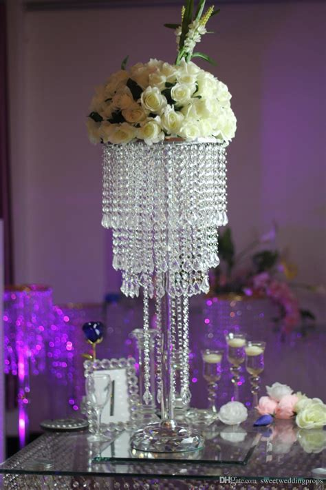 New Style Crystal Wedding Crystal Beads Aisle Pillar