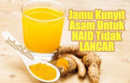 Jamu Kunyit Asam 4 ramuan tradisional pelancar haid yang paling uh