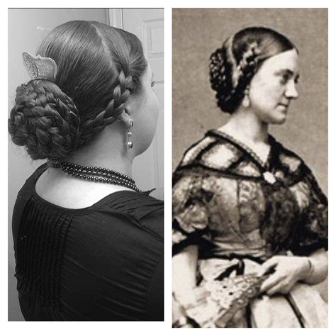 civil war zouave hairstyles godey s ladies hair style 1860 s modern version on the