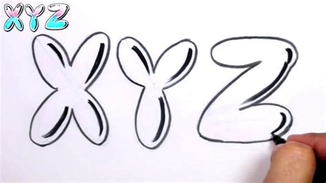 graffiti tekenen graffiti letters alphabet letters alphabet x y z