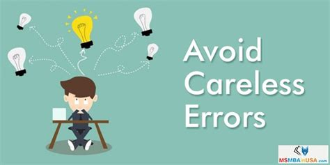 Mba Mistakes To Avoid by How To Avoid Careless Errors In Your Gmat