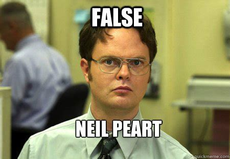 Neil Peart Meme - false neil peart schrute quickmeme