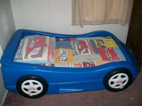 4 sale little tikes blue race car toddler bed ohio game