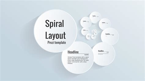 how to prezi templates spiral layout prezi template prezibase